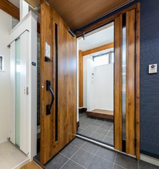 玄関親子ドア イメージ