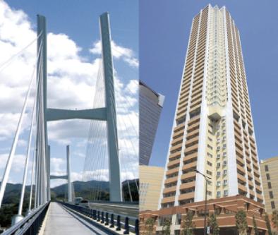高層ビルや橋の制震ダンパーに使われる技術を住宅に転用したMIRAIE。