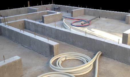 建物の荷重を安定して支える強固なベタ基礎構造
