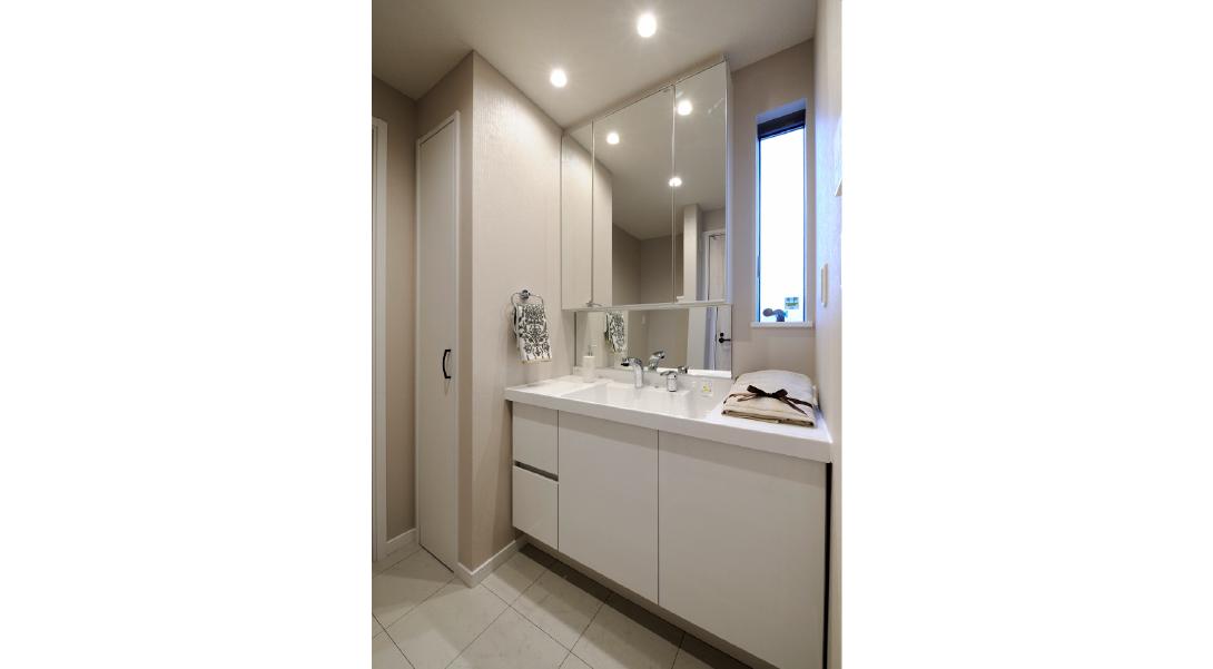 【エルカスおゆみ野】モデルハウス:洗面室