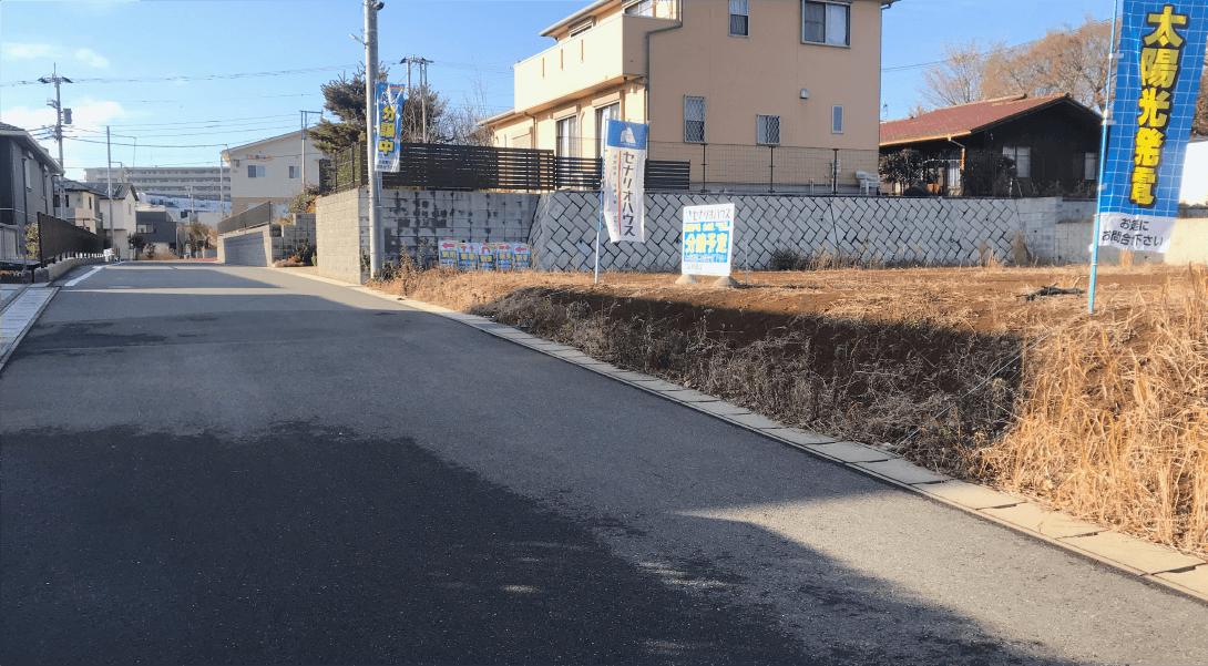 【ヘリオスタウンおおたかの森44】前面道路は6mございます //現地写真(2020年1月12日現在)