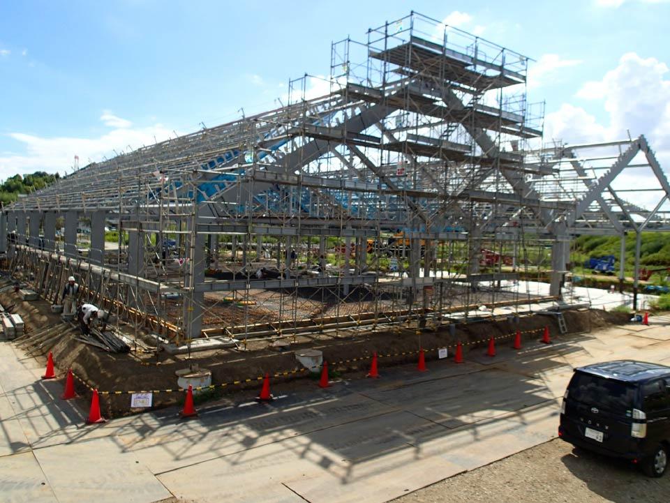 【道の駅しょうなん】鉄骨建方ひとまず完了!※まだまだ続く