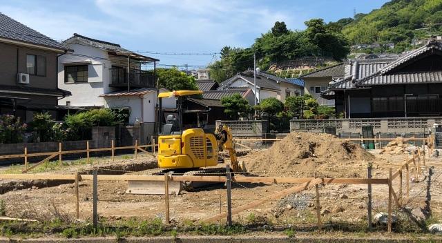 土地によって建てられる建物の大きさは定められている